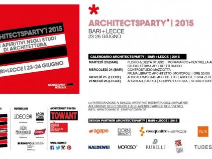 ArchitectsParty BARI + LECCE 2015 Gli aperitivi negli studi di architettura d'Italia